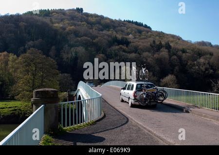 Bigsweir ponte sopra il fiume Wye vicino, Llandogo Monmouthshire, Wales, Regno Unito