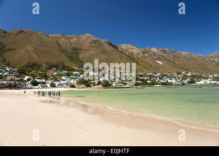 Spiaggia di Gordons Bay, Western Cape, Sud Africa Foto Stock