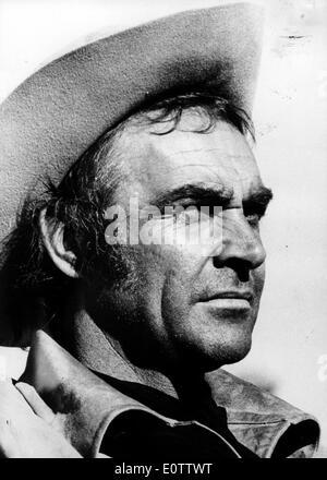 Attore Sean Connery in un ruolo di un cowboy Foto Stock