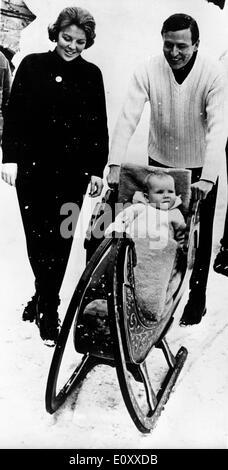 La principessa Beatrice e vacanza con la famiglia in Austria Foto Stock