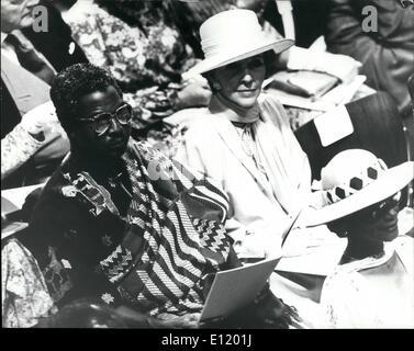 Lug. 07, 1981 - Nancy Regan assiste Royal Wedding: la moglie del Presidente Regan, Nancy nella foto durante la cerimonia di nozze del principe Charles e Lady Diana Spencer nella cattedrale di San Paolo oggi.