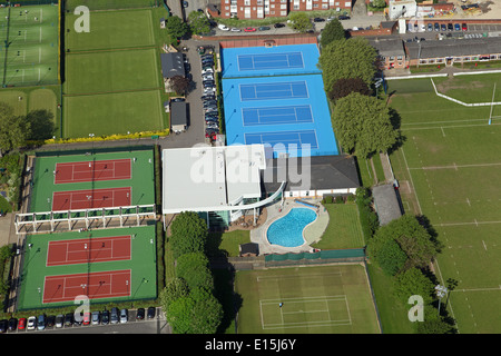 Vista aerea del Roehampton Club, un esclusivo club sportivo in Roehampton Londra Foto Stock