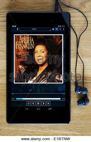 Aretha Franklin greatest hits album MP3 le copertine degli album su PC tablet, Inghilterra