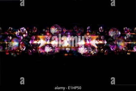 La magia delle bollicine - discoteca luci luminose sfondi arte Foto Stock