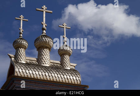 In legno chiesa russa Foto Stock
