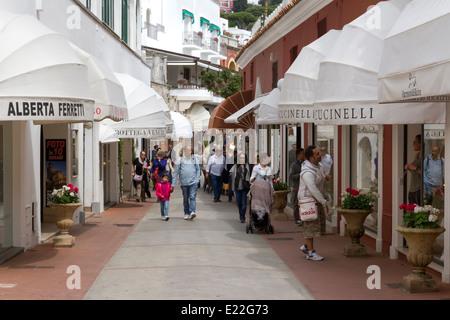 Boutiques di designer in Capri Foto Stock