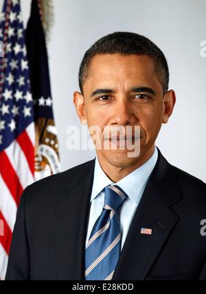 Il presidente Barack Obama, 44th Presidente degli Stati Uniti Foto Stock