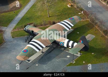 Francia, Calvados, Ranville, Museo ponte Pegasus, modello di aliante assault velocità aerodinamica Horsa come51 Foto Stock