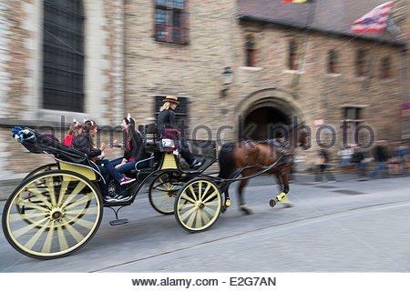 Belgio Fiandre Occidentali Bruges centro storico sono classificati come patrimonio mondiale dall' UNESCO giro in Foto Stock