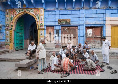 India Rajasthan Jodhpur nelle strade della città vecchia Foto Stock