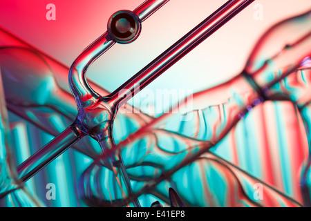 Sfondo astratto di vetreria chimica Foto Stock