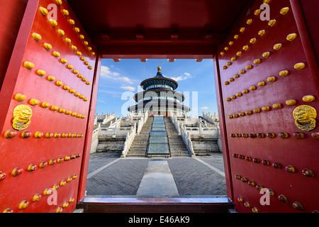 Pechino, Cina presso il Tempio del Paradiso. Foto Stock