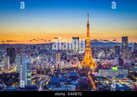 Tokyo, Giappone skyline della città Foto Stock