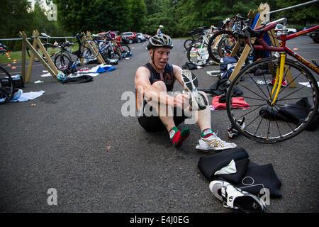 La Hudson Valley Triathlon Club Series 2014 Foto Stock