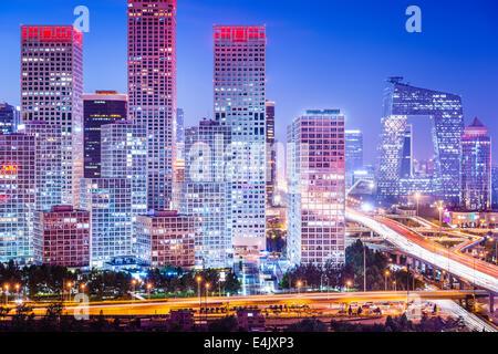 Pechino, Cina skyline al quartiere centrale degli affari. Foto Stock