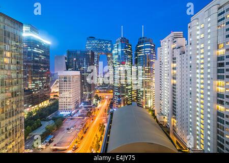Pechino, Cina cityscape nel quartiere centrale degli affari. Foto Stock