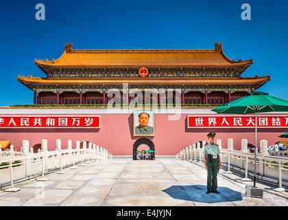 Porta di Tiananmen a Pechino in Cina. Foto Stock