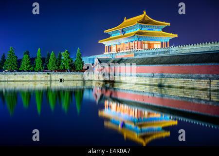 Pechino, Cina Forbidden City Gate. Foto Stock