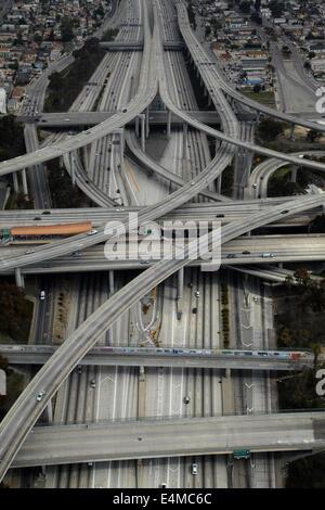Giudice Harry Pregerson Interchange, l'incrocio della I-105 e I-110 (Glenn Anderson autostrada e superstrada porto), Foto Stock