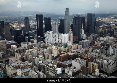 Il centro cittadino di Los Angeles, California, Stati Uniti d'America - aerial Foto Stock