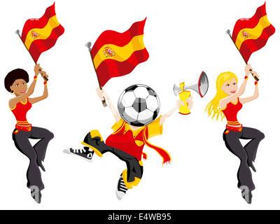 In Spagna i tifosi di calcio.