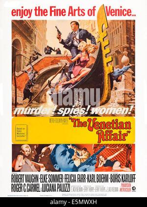 La vicenda veneziana, noi locandina, in alto, da sinistra: Robert Vaughn, Elke Sommer, 1967 Foto Stock