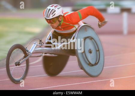 Atleta in para-competizione atletica Foto Stock