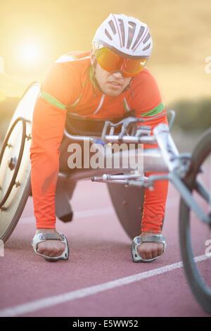 Atleta in para-preparazione atletica Foto Stock