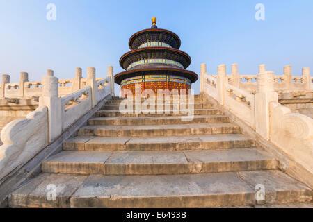 Tempio del Paradiso e la sala di preghiera per il raccolto a Pechino, Cina Foto Stock