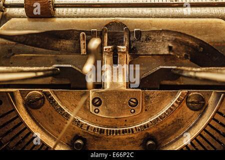 Retro Vintage typewriter closeup shot forniture per ufficio Foto Stock
