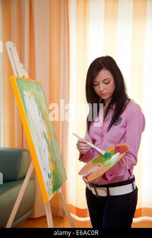 Pittura,dipinti,l'artista Foto Stock