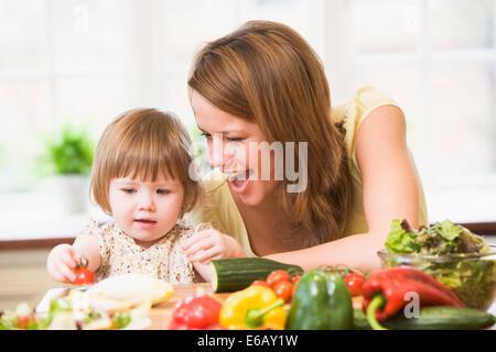 madre, figlia Foto Stock