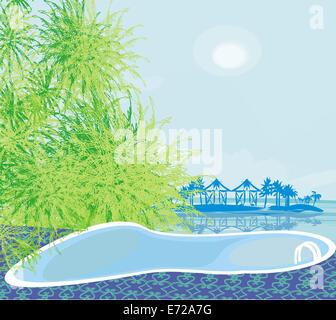 Piscina su una spiaggia tropicale