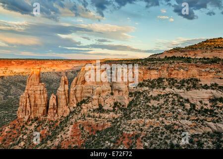 Monumenti di pietra arenaria e formazioni, Colorado National Monument, Grand Junction, Colorado, STATI UNITI D'AMERICA