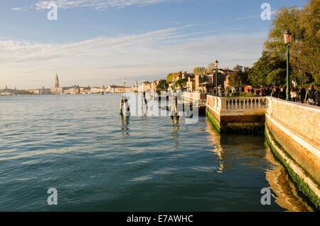L'Italia, Venezia, Venezia, Venedig, Canale di San Marco, Riva dei Sette Martiri Foto Stock