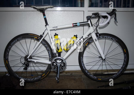 Sir Chris Hoy's road bike Foto Stock