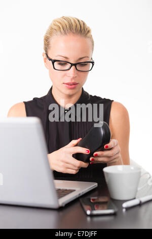 Business Woman in ufficio. Foto Stock