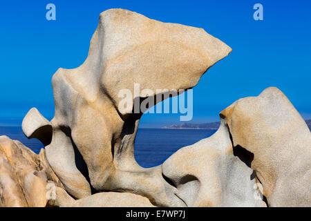Erosi bizzarre formazioni rocciose, il promontorio di Campo Moro, Belvédère Campomoro, Corse-du-Sud, Corsica, Francia