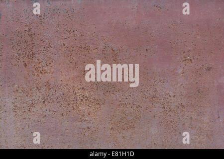 Vecchio texture metalliche innescata con punti di ruggine Foto Stock
