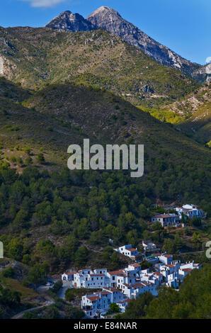"""El Acebuchal - """"la perdita o il villaggio fantasma"""" in montagna vicino a Frigiliana, Costa del Sol, provincia di Foto Stock"""