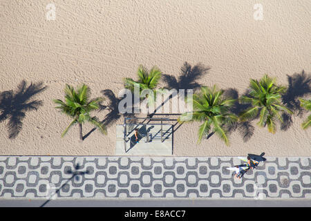 Vista aerea della spiaggia di Ipanema, Rio de Janeiro, Brasile Foto Stock