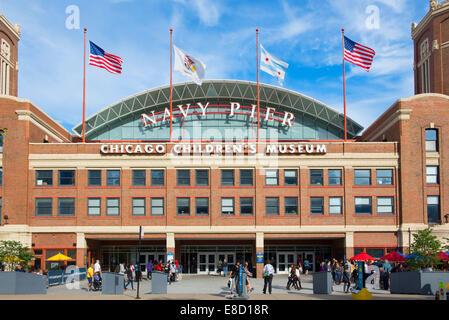 Il Navy Pier Chicago il Museo dei Bambini Foto Stock
