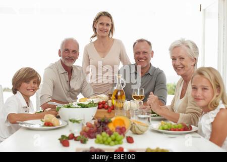 Happy Family Portrait Foto Stock