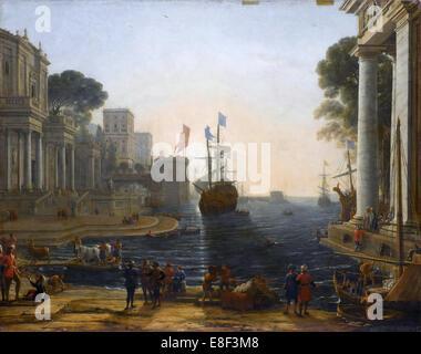 Ulisse Chryseis ritorna da suo padre. Artista: Lorrain Claude (1600-1682) Foto Stock