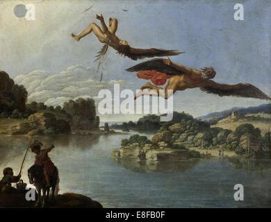 La caduta di Icaro. Artista: Saraceni, Carlo (1579-1620) Foto Stock