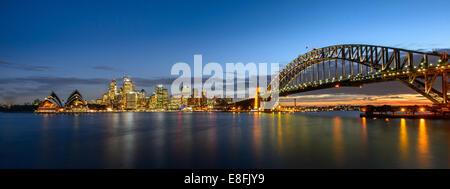 Australia, Nuovo Galles del Sud di Sydney durante il tramonto Foto Stock