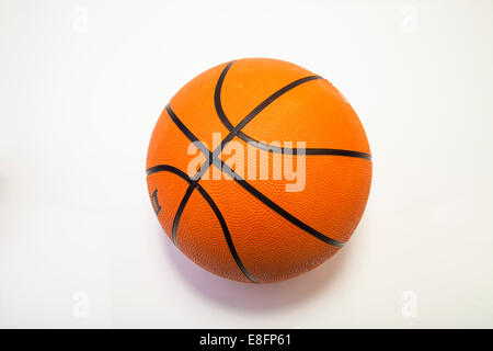 Close up di un pallone da basket Foto Stock