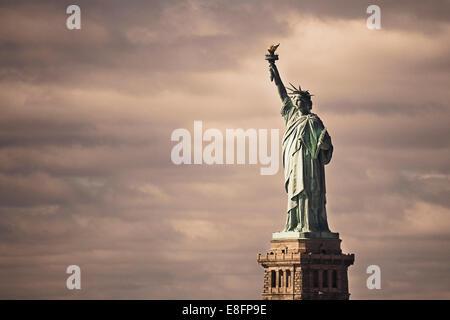 Stati Uniti d'America, nello Stato di New York, New York City, la Statua della Libertà Foto Stock