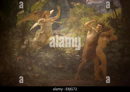 Adam & Eve respinti da Dio Foto Stock