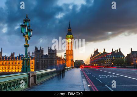 Big Ben di notte, Londra Foto Stock